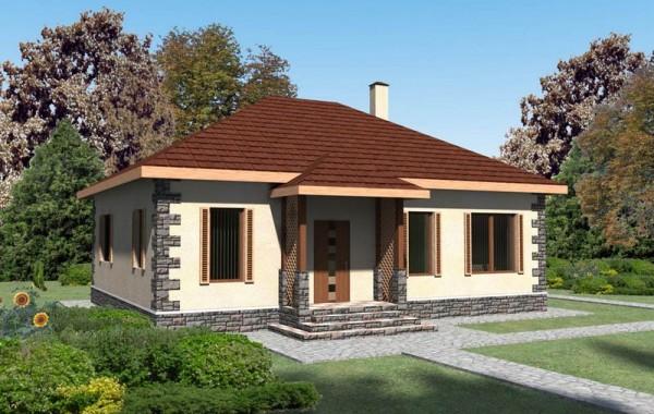 Проект комфортабельного одноэтажного дома