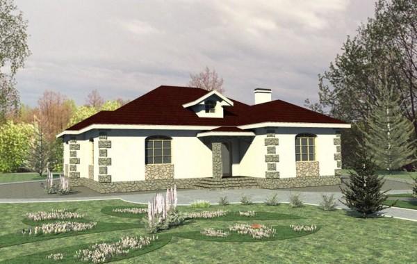 Готовый проект 1-этажного дома на три спальни