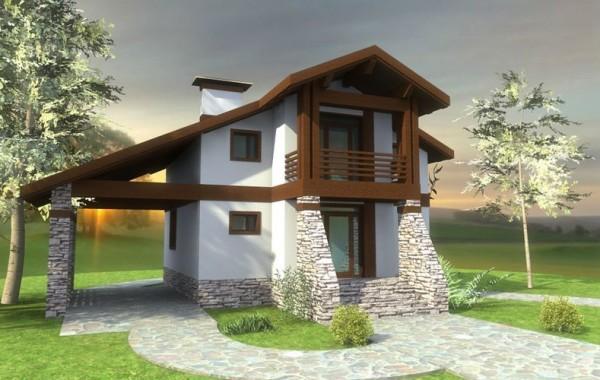 Типовой эскизный проект одноэтажного дома