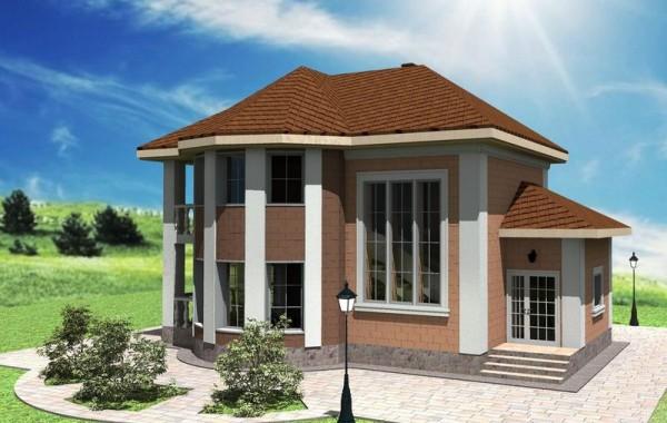 Эскизный проект двухэтажного дома