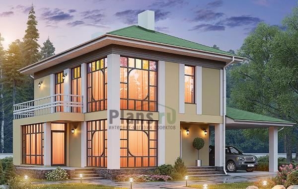 Проект кирпичного дома 42-62