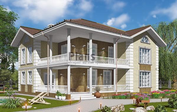 Проект кирпичного дома 42-67