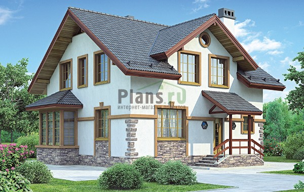 Проект кирпичного дома 42-70