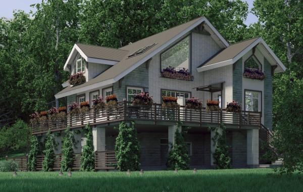 Проект экстерьеров фасадов загородного дома