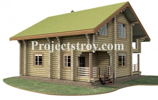 Проект бревенчатого дома из ОЦБ 260 мм