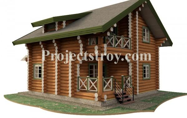 Популярный проект деревянного дома для дачи