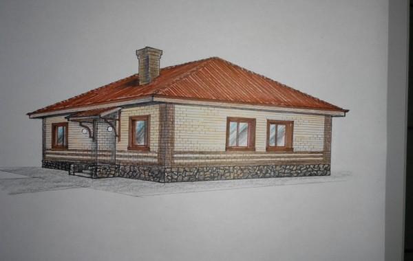 Проект 1-го индивидуального жилого дома