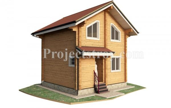 Дом из бруса  6 на 6 м