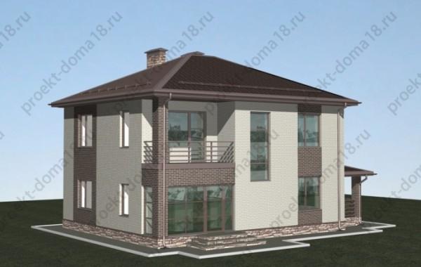 Проект дома 10х11 с балконом