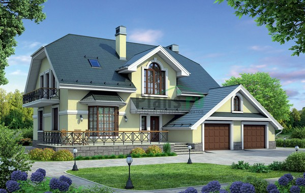 Проект кирпичного дома 37-82