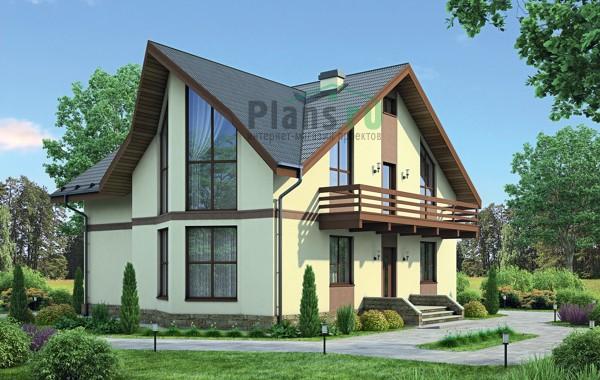 Проект кирпичного дома 38-08