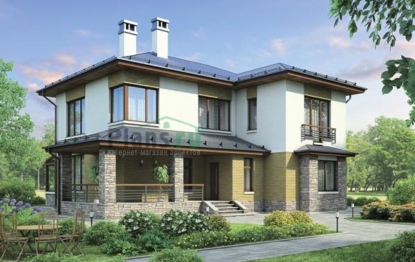 Проект кирпичного дома 38-35