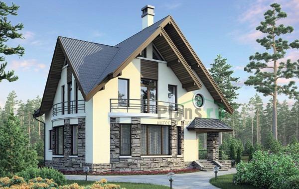 Проект кирпичного дома 38-53