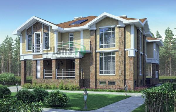 Проект кирпичного дома 38-58