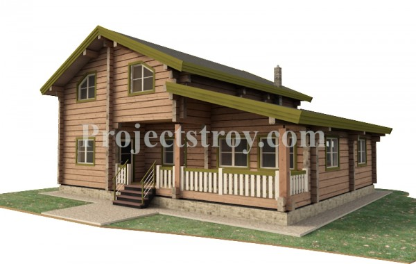 Деревянный дом в норвежском стиле из лафета