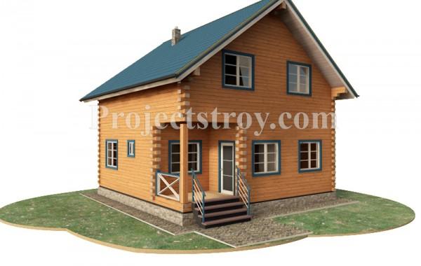 Дома из бруса при строительстве в теплый угол