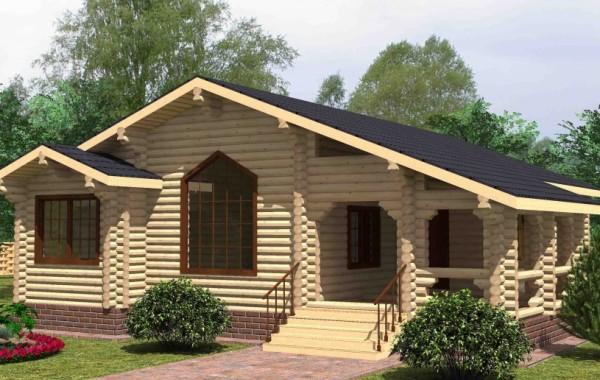 Проект бревенчатого дома AM-2008