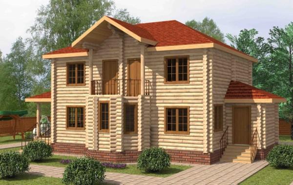 Проект бревенчатого дома AM-2011