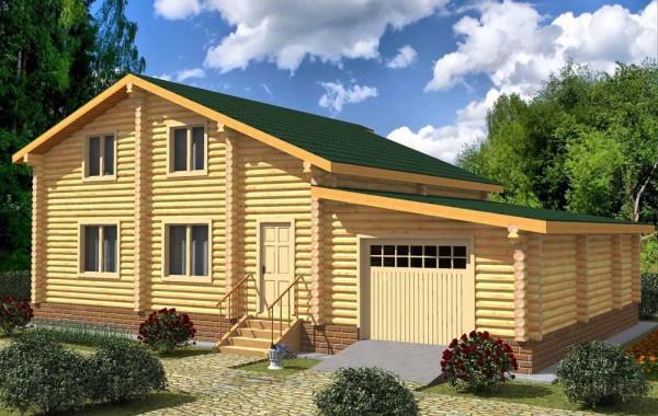 Проект бревенчатого дома AM-2015