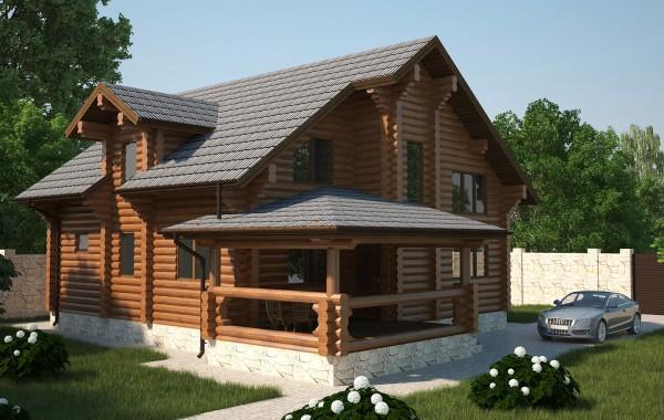 Проект бревенчатого дома AM-2025