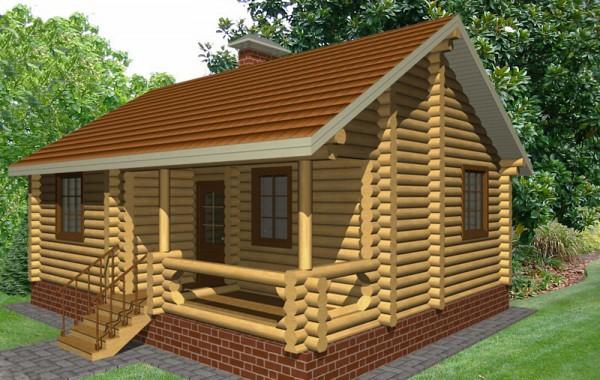 Проект бревенчатого дома AM-2029