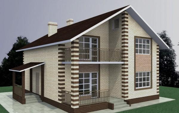 Дом из фибропеноблока