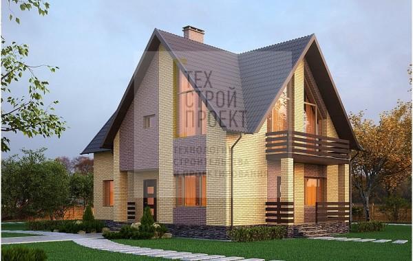 Двухэтажный дом в классическом исполнении