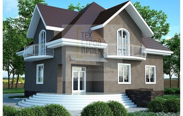 Проект большого аккуратного дома в классическом ст