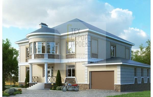 Большой двухэтажный дом в классическом стиле