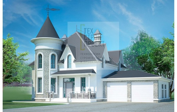 Проект семейного замка с ярким архитектурным облик