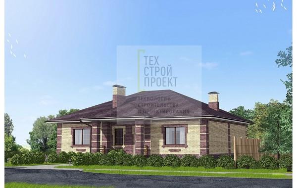 Проект компактного одноэтажного дома