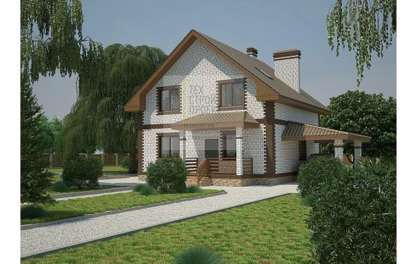 Компактный дом с мансардным этажом