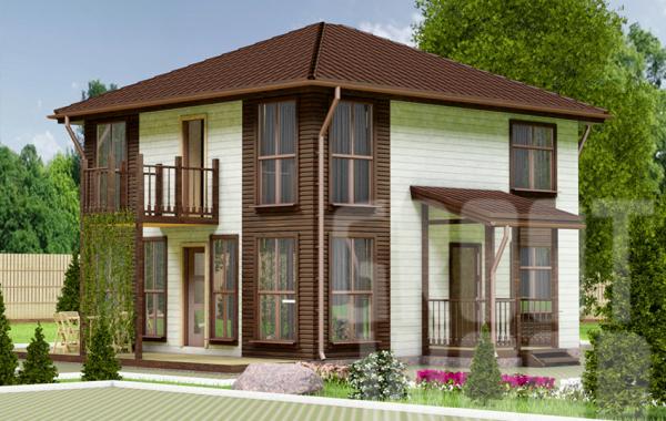 Двухэтажный дом 8 х 7,5 м, 139 кв. м.