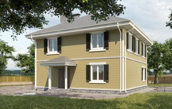 Готовый проект дома 160 кв.м / Артикул AHT-111