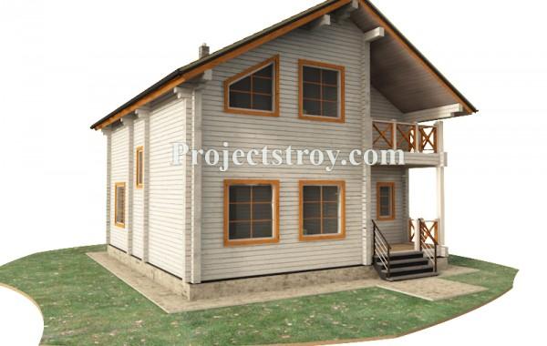 Дом из профилированного бруса 9 х 9.5 м