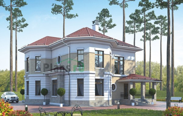 Проект кирпичного дома 38-91