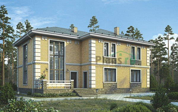 Проект кирпичного дома 39-04
