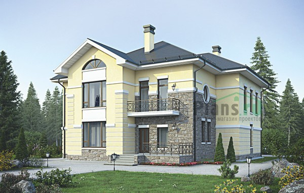 Проект кирпичного дома 39-16