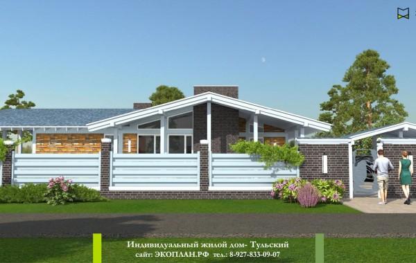 Готовый проект дома - Тульский - Экоплан