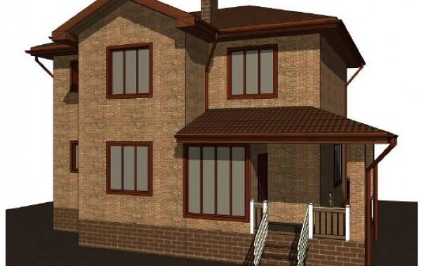 Проект двухэтажного дома 11х12м