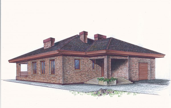 Рабочий проект одноэтажного дома