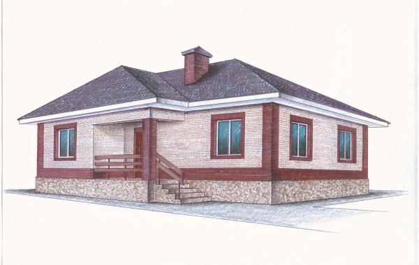 """""""Иж-326"""" Проект одноэтажного дома"""