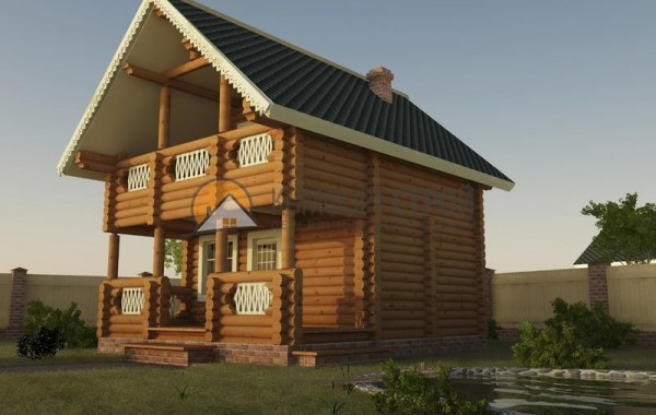 Дом-баня 60.51 м2 5.5х6.3 по проекту СКАЗКА