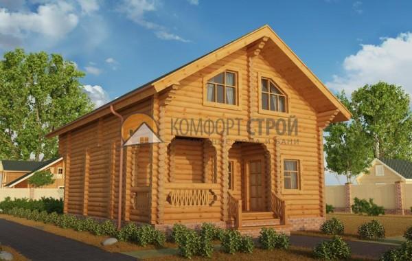 Дом-баня 126.68 м2 7.4х9.5 по проекту УДАЧНЫЙ