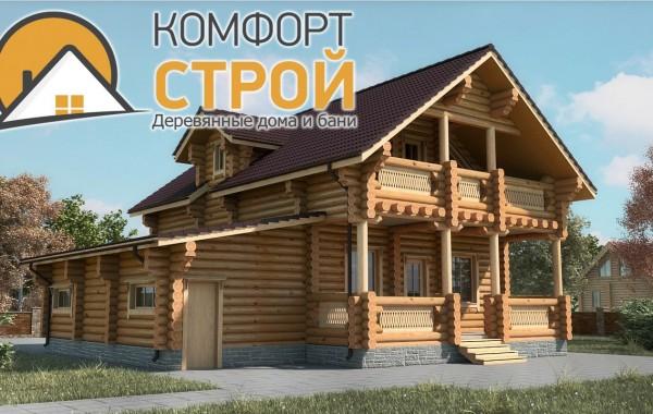 Проект дома с гаражом 194 м2  12х13.2 БОРОДИНО