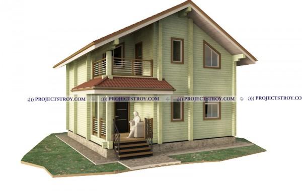 Дом из профилированного бруса 8 х 8 м