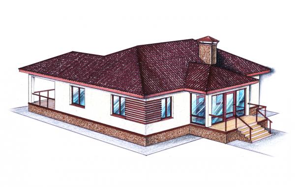 "Проект ""Иж-337""  Проект одноэтажного дома"