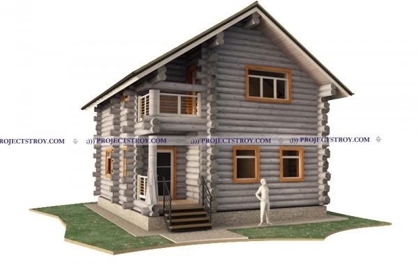 Деревянный дом до 100 кв. м