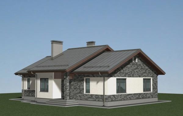 Проект одноэтажного дома А-07-20