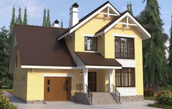 Готовый проект коттеджа 189 кв. м / Артикул Л-57